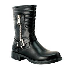 Olivia Miller Womens Zipper Boots
