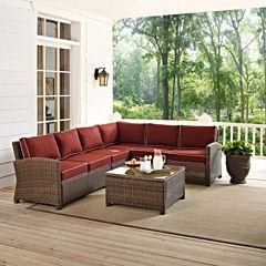 Crosley Bradenton Wicker 5-pc. Patio Lounge Set