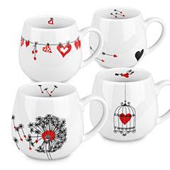 Konitz Hearts Snuggle 4-pc. Mug Set