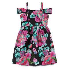 Emerald Gumdrops Short Sleeve Cap Sleeve Party Dress - Big Kid Girls