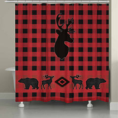 Laural Home Buffalo Check Shower Curtain