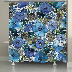 Laural Home Eclectic Bloom Shower Curtain