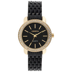 Geneva Womens Black Bracelet Watch-Jcp3006bg