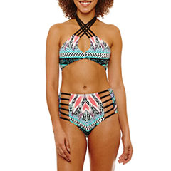 a.n.a Chevron Bandeau Swimsuit Top or HIgh Waist Bottom