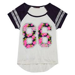 Insta Girl Short Sleeve Athletic Raglan Tee- Girls' 7-16
