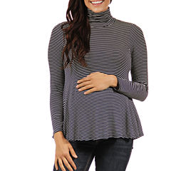 24/7 Comfort Apparel Turtleneck Pullover Sweater-Maternity