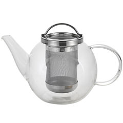 BonJour® Harmony 27-oz. Coffee and Tea Glass Teapot with Stainless Steel Infuser