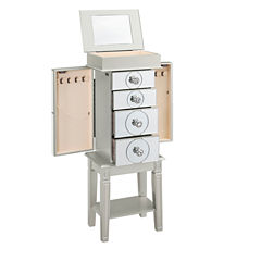 Madison Silver Jewelry Armoire