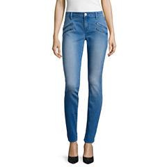 Belle + Sky™ Zipper Skinny Jeans