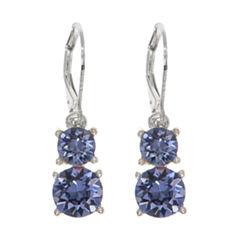 Gloria Vanderbilt Brown Drop Earrings
