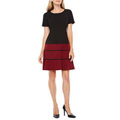 Alyx Short Sleeve Fit & Flare Dress