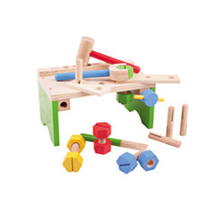 Carpenters Bench 14-pc. Toy Workbench