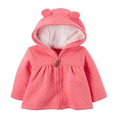 Carter's Midweight Fleece Jacket-Baby Girls