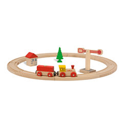Eichhorn - 15 Piece Circular Wooden Train Set