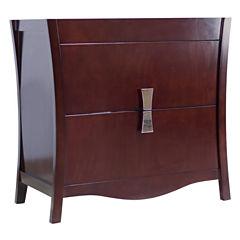 American Imaginations Bow Rectangle Floor Mount 34.75-in. W x 18-in. D Modern Birch Wood-Veneer Vanity Base Only In Coffee