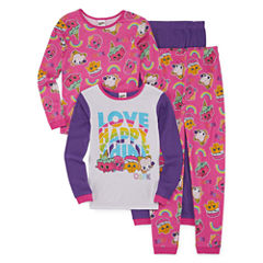 Shopkins 4-pc. Pant Pajama Set Girls