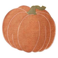 JCPenney Home Harvest Pumpkin 4-pc. Placemat