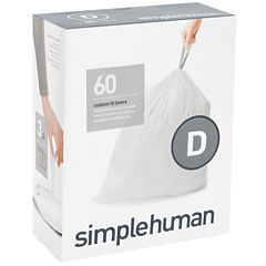 simplehuman® Custom-Fit Trash Can Liners Code D - 60-pack