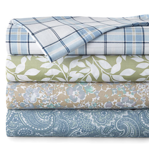 JCPenney Home™ 300tc Easy Care Print Sheet Sets and Pillowcases