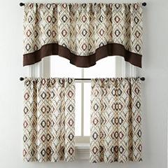 Cabin Trellis Rod-Pocket Kitchen Curtains