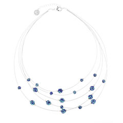 Liz Claiborne Womens Blue Illusion Necklace