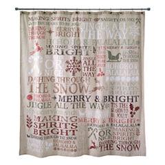 Avanti Holiday Words Shower Curtain