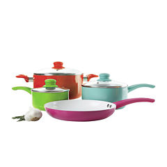 Gibson Home 7-pc. Assorted Aluminum Multicolored Cookware Set