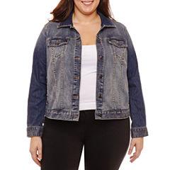 Boutique + Denim Jacket-Plus