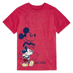 Disney Mickey Mouse Graphic T-Shirt-Big Kid Boys