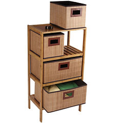 Household Essentials® Bamboo 4-Drawer Storage Chest