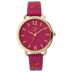 Decree Womens Pink Strap Watch-Dcr281pg