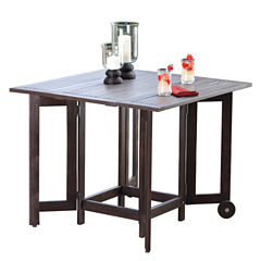 Northbeam Eucalyptus Folding Square Patio Dining Table