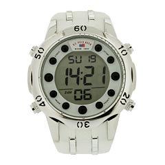 U.S. Polo Assn.® Mens White Silicone Strap Digital Watch
