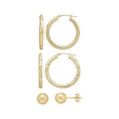 10K Gold  Earring Set