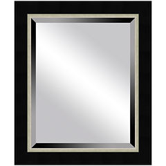 Black Mirror with Silver-Tone Lining