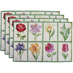 Park B. Smith® Floral Tiles Set of 4 Placemats
