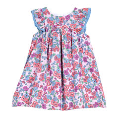 Marmellata Cap Sleeve Pattern A-Line Dress - Baby Girls