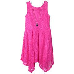 Zunie Sleeveless Skater Dress - Big Kid Girls