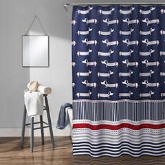 Lush Décor Sausage Dog Shower Curtain