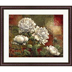 Praise II-Peonies Framed Wall Art