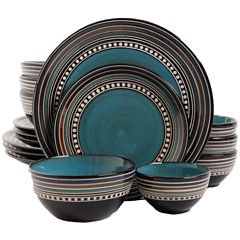 Gibson Elite Café Versailles 16-pc. Double Bowl Dinnerware Set