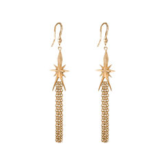 dom by dominique cohen Gold-Tone Star & Tassel Earrings