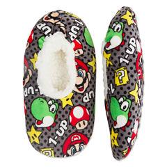 Mario Fuzzy Slippers- Boys