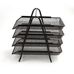 Mind Reader 4-Tier Steel Mesh Paper Tray Desk Organizer