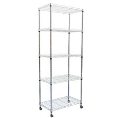 Mind Reader 4-Tier Metal Storage Rack With Wheels