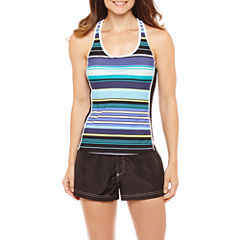 Zeroxposur Stripe Tankini Swimsuit Top or Woven Board Short