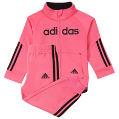 adidas 2-pc. Logo Pant Set Girls