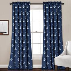 Lush Decor Anchor 2-Pack Room Darkening Curtain Panel