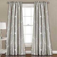 Lush Decor Bird On The Tree 2-Pack Room Darkening Curtain Panel
