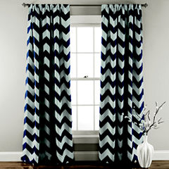 Lush Decor Chevron 2-Pack Room Darkening Curtain Panel